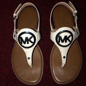 Michael Kors white sandals. Size 7